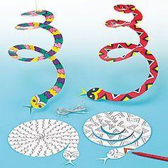 Spiraal slang, niet echt creatief, voor een keertje bezigheidstherapie...