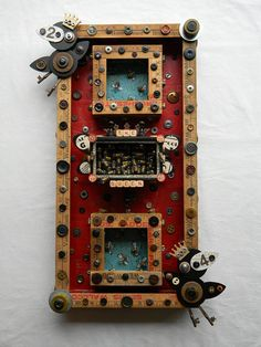 Recycled Art Assemblage The Queen & The Crows by redhardwick, $250.00