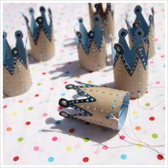 toilet paper birthday crowns