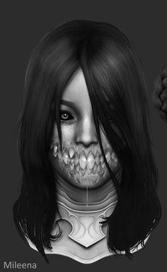 ArtStation - Mortal Kombat X - Mileena, Solomon Gaitan