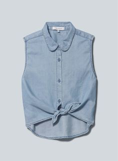 Talula Mulholland Blouse, now available at Aritzia.com. #denim