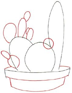 Draw a Cactus in 7 Steps HowStuffWorks quot;How to Draw a Cactus quot;How to Draw a Cactus quot; Succulents Drawing, Cactus Drawing, Cactus Painting, Plant Drawing, Cactus Art, Painting & Drawing, Cactus Plants, Drawing Flowers, Rock Painting