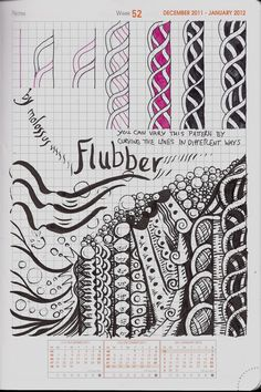 #Flubber #zentangle #SandraStrait