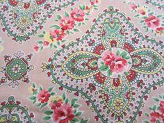 Vintage Eiderdown Cotton Fabric 1950s #2 | Vintage Fabric Addict