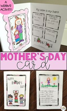 Your students will love making this cute card for their mom this Mother's Day! These will be amazing keepsakes for years to come.