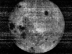 A truly historic picture - the first glimpse of the far side of the Moon, photographed from the Soviet Lunar spacecraft in 1959 [Photo: USSR - and that's the first time I've typed that]