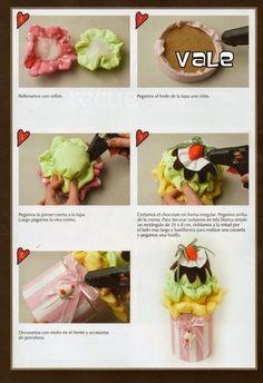 Moldes para imprimir: Boneca halloween e florzinha para bolinho de biscuit passo a passo Tapas, Chocolate, Relleno, Halloween, Ethnic Recipes, Food, Muffins, Altered Tins, Diy Creative Ideas