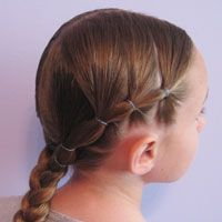 I love this idea - how simple and easy !! Direct link to this style: http://babesinhairland.com/hairstyles/puffy-braids-to-a-braid/