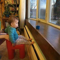 The window is her favorite at least till it's warmer. #babymoves