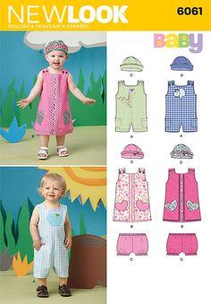 New Look sewing pattern 6061: Babies Sportswear