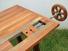 Cool idea for wagon vise...and beautiful bench as well. I would also add a leg or moxon vise