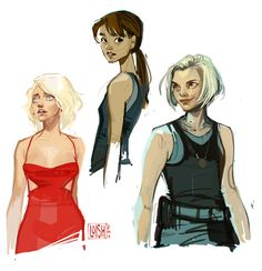 long time no post! i went on vacation in june, and upon my return started working on an intensive freelance project with a tight deadline. all other free time was spent watching one of the best shows i've ever had the pleasure to watch: battlestar galactica. so i managed to find a few minutes free here and there to draw my three favorite characters from that show :) just started season 4! so sad that i have only this season left :'( will be posting more starting next week!