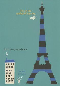 Shinzi Katoh Paris Postcard