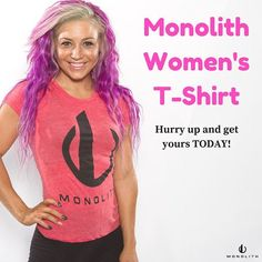 Are you a fitness apparel fanatic like we are? Well hurry over to our shop and pick up your women's Monolith T-Shirt in 4 different colors click on link in bio to get yours today! #thinkmassive
