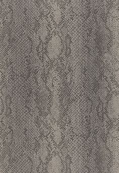 So would love to do a masculine bathroom is this Cody Snakeskin from Schumacher Wallcovering