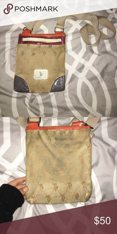 Ralph Lauren purse Super cute got lots of love but is still in good shape just needs a slight wash. It's only slightly dirty looking on the back where it rubbes against clothes but not noticeable Polo by Ralph Lauren Bags Crossbody Bags