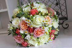 Vintage svadobná kytica z ruží