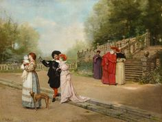 vicente-palmaroli-y-gonzales-1834-1896-the-happy-family