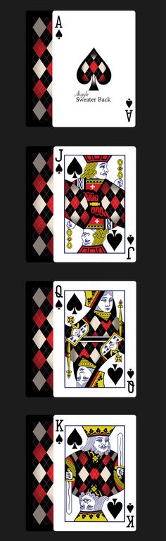 Bicycle® Sweater Back Playing Cards (Relaunch) by Eric Twiddy — Kickstarter