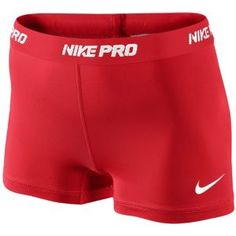"""Nike Pro 2.5"""" Compression Short - Women's - Training - Clothing - Sport Red/White"""