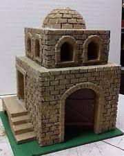 Resultados de imágenes para casas de cunas de bricolaje Nativity House, Christmas Nativity, Diorama, Bookends, Whimsical, Christmas Decorations, Miniatures, Pottery, Dolls