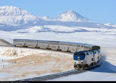 RailPictures.Net Photo: AMTK 122 Amtrak GE P42DC at Browning, Montana by Dave Schauer