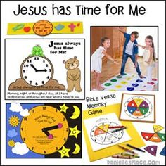 Jesus Has Time for Me Bible Crafts and Bible Games Bible School Crafts, Bible Crafts For Kids, Bible Study For Kids, Bible Lessons For Kids, Bible For Kids, Activities For Kids, Bible Games, Church Camp, Christian Crafts
