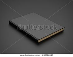 book with black blank cover. 3d render