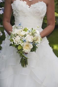 White rustic bouquet  // photo by Saleina Marie Photography