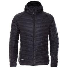 K-Way Men's Barnacle Hooded Down Jacket - Black