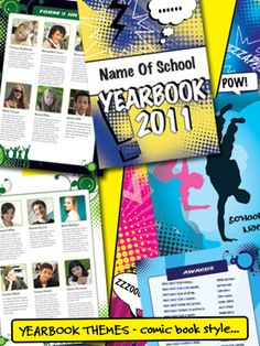 Yearbook theme ideas - comic book style - School Yearbooks from SPC - Quality School Yearbooks