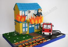 Celebrate with Cake! Boy Birthday Parties, 2nd Birthday, Fireman Sam Cake, Cupcake Cakes, Cupcakes, Cake Making, Character Cakes, Kids Tv, Fire Engine