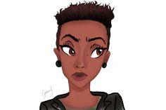 #illustration #girl #cute #pastel #illustrator #draw #drawing #art #digitalart #girlpower #black #blackpower #hair