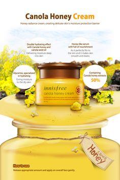 Innisfree Canola Honey Cream 50ml [Dry skin type] - Innisfree Beautynetkorea Korean cosmetic