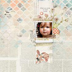I adore this #scrapbook page by Brenda at DesignerDigitals.com #shopDesignerDigitals #quatrefoils