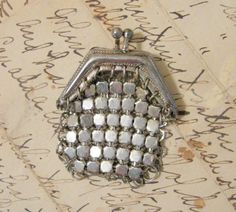 Antique Silver Mesh Chainmail Evening Bag by Somethingcharming, $49.00