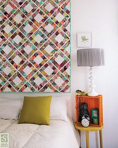 Love the look of this block quilt