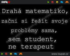 matematika vtipy - Hledat Googlem Best Memes, Funny Memes, Jokes, Psychology, Haha, Comedy, Funny Pictures, Motivation, Quote