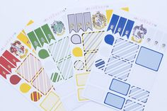 Harry Potter House inspired Weekly Life Planner Stickers, Perfect for Erin Condren, Kikki K, Plum Paper, Filofax Printable Planner, Planner Stickers, Printables, Harry Potter Planner, Organizing, Organization, Harry Potter Houses, Plum Paper, Kikki K