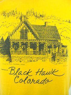 Vintage Lace House Black Hawk Colorado T Shirt Medium Black Hawk Colorado, Black House, 1980s, Medium, Lace, T Shirt, Vintage, Anos 80, Tee