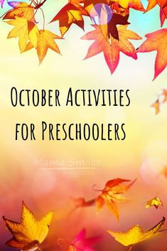 Autumn is full of wonderful educational activities for young children. Todays post features our favorite October activities for preschoolers. Autumn Activities For Kids, Preschool Learning Activities, Fall Crafts For Kids, Preschool Printables, Educational Activities, Toddler Activities, Preschool Activities, Monster Activities, Young Children