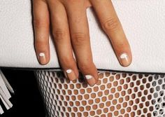 Reverse French Manicures Make For Ultra-Modern Nail Art at Milly #NYFW
