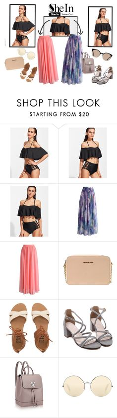 """""""3"""" by ivana315 ❤ liked on Polyvore featuring Chicwish, MICHAEL Michael Kors, Billabong, Victoria Beckham, Balenciaga, Summer, contest and shein"""