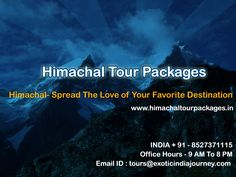 Himachal tour package is an ideal way to explore the hidden charms of Himalayan ranges and return with hand full memories to fill your album. Contact us as we have best customized and affordable tour packages to make your vacation marvelous. http://www.himachaltourpackages.in/