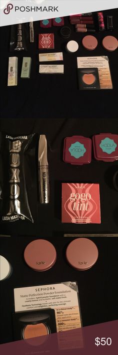 HIGH END MAKEUP BUNDLE BNIB BNIB HIGH END MAKEUP BUNDLE 💄  NONE HAVE BEEN USED OR SAMPLED. •Buxom Lash Mascara•Bare Minerals Lash Domination Mascara•Benefit HOOLA Bronzer (x2)•Benefit GOGO TINT cheek and lip stain•Kay Von D Lock It Setting Powder•Dr. Jart WATER FUSE Ultimate Hydro Gel•Tarte paaarty Amazonian clay 12-hour Blush(x2)•Tarte Tarteist Lip paint in Birthday suite (x2)•Clinique Lip Tint in Black Honey(x2)•Sephora Gel Gloss Ultra Brilliant Ultra Shine Lip Gel In Pin-Up Pink..and so…