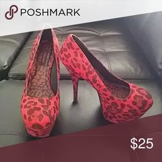 Red High Heels Like new Dollhouse Shoes Heels