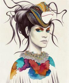 Camila do Rosário reúne moda, regionalismos e caneta Bic para criar ilustrações de tirar o fôlego