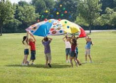 101 Ways to Play (#42): Parachute Games - Pinned by @PediaStaff – Please Visit ht.ly/63sNtfor all our pediatric therapy pins
