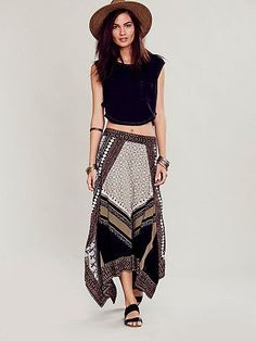 I am absolutely obsessed with this skirt... Free People Bedouin Traveler Skirt