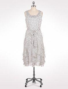 Plus Size Ruffled Dotted Dress | Dressbarn